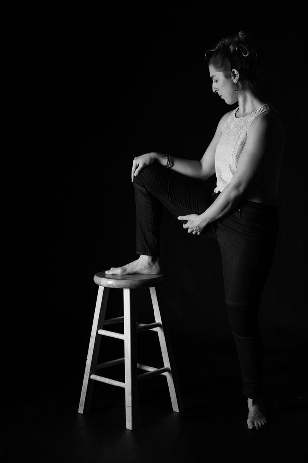 foot up chiaroscuro photo print by photographer gsphotoguy