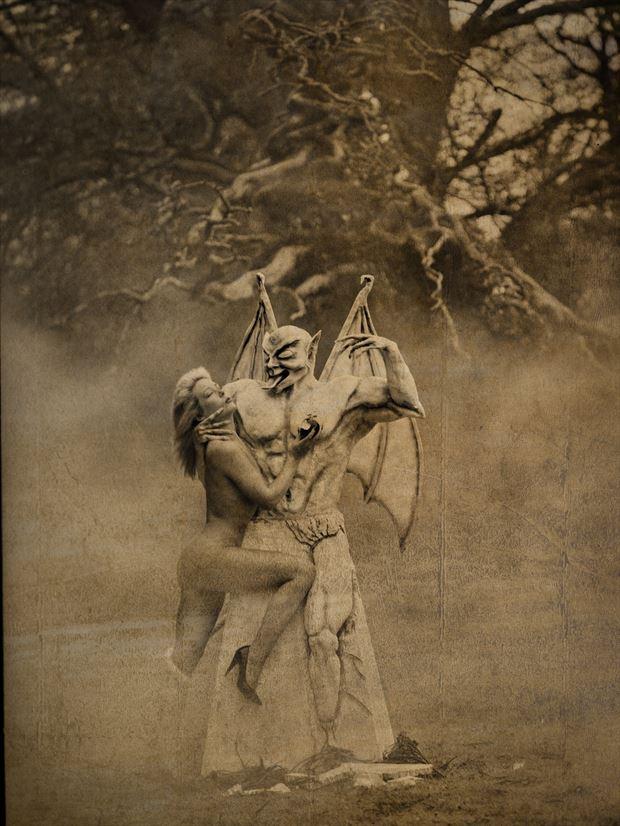 forbidden fruit artistic nude photo print by photographer stu williamson