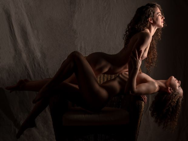 friendship makes its own light artistic nude photo print by photographer gpstack