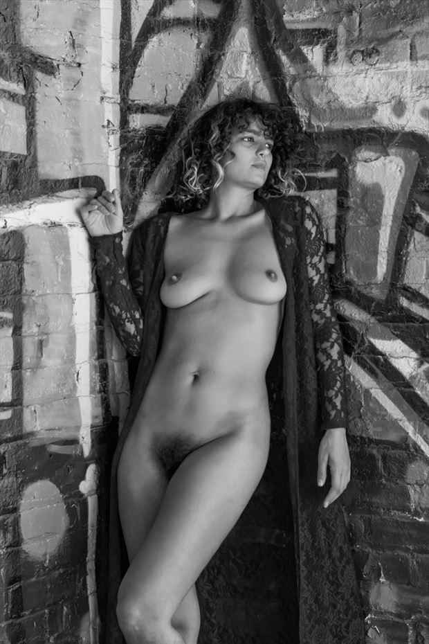 gabi in the hood artistic nude photo print by photographer philip turner