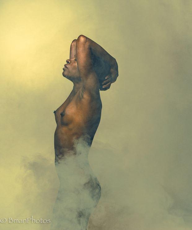gazelle powers artistic nude photo print by photographer bmanphotos
