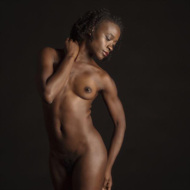 gazelle undraped artistic nude artwork print by photographer tony avellino