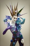 geometric woman Body Painting Photo print by Photographer Andrea Peria