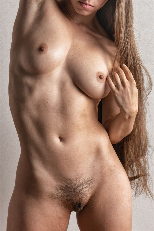 give her a hand artistic nude photo print by photographer rick jolson