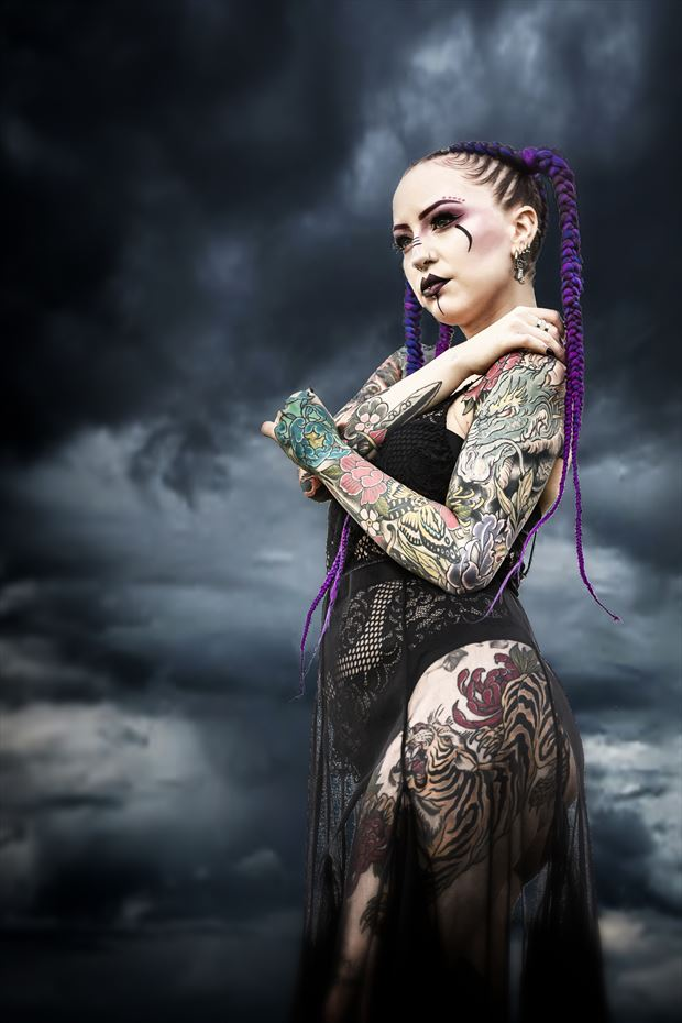 goddess 4 tattoos photo print by photographer ken greenhorn