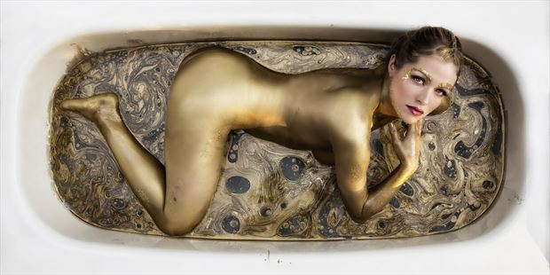 gold 1 artistic nude photo print by photographer ken greenhorn