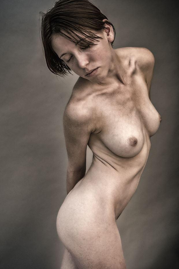gotta love clavicles artistic nude photo print by photographer rick jolson