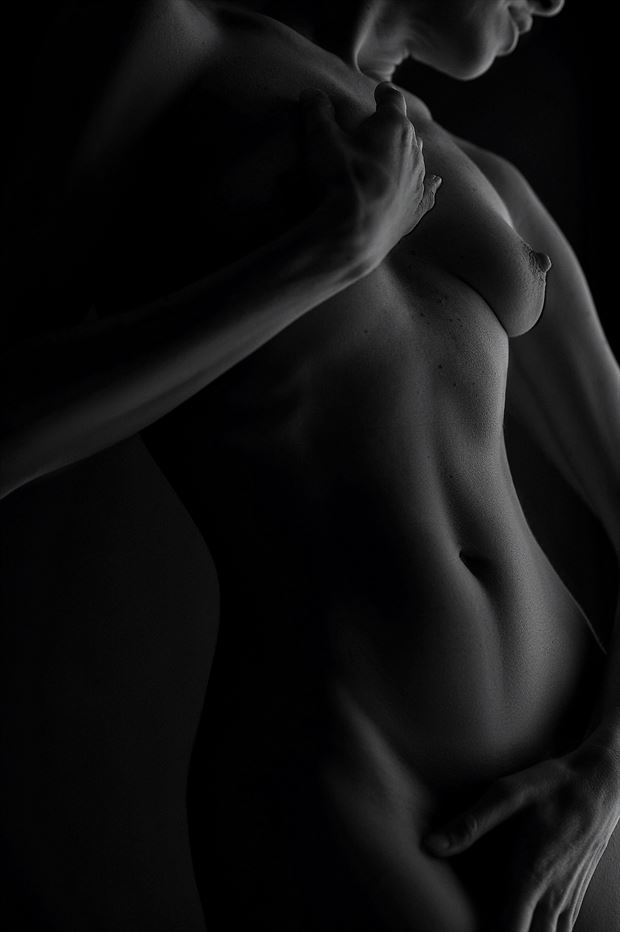 hands artistic nude artwork print by photographer roberto bressan