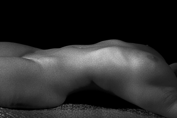 her grainy silver body artistic nude photo print by photographer csdewittphotography