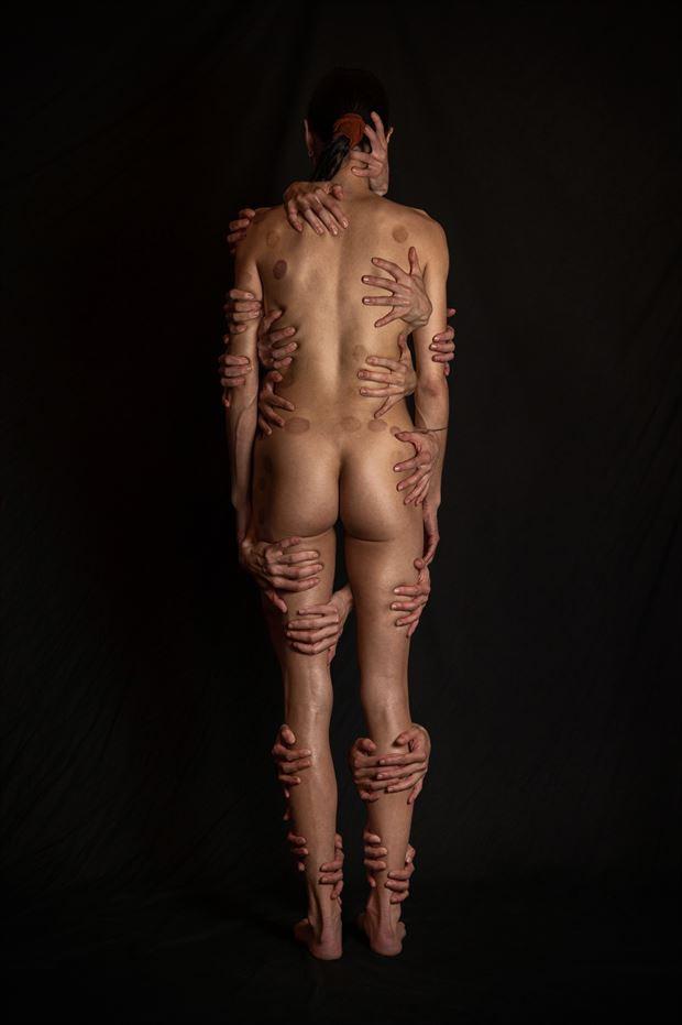 hold me artistic nude photo print by model prana machine