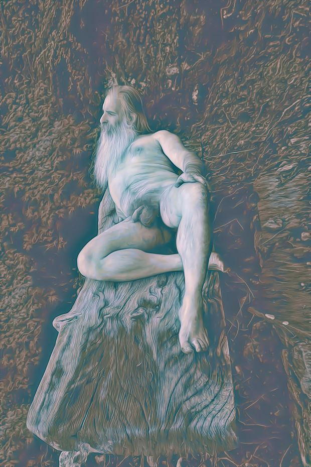 homage to father thames artistic nude artwork print by model masterarti
