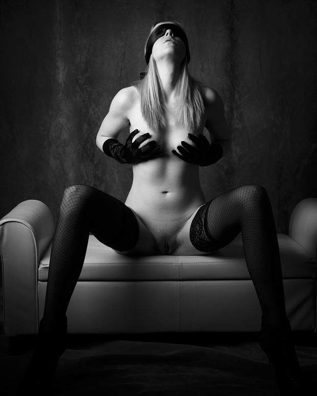 in the darkness artistic nude photo print by photographer opp_photog