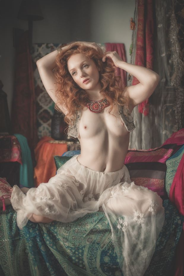 in the harem artistic nude photo print by photographer colin dixon