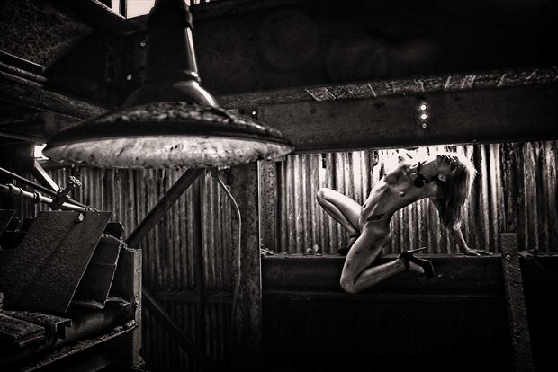 industrial 1 artistic nude photo print by photographer kean creative