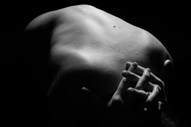interlocked hands artistic nude photo print by photographer gsphotoguy