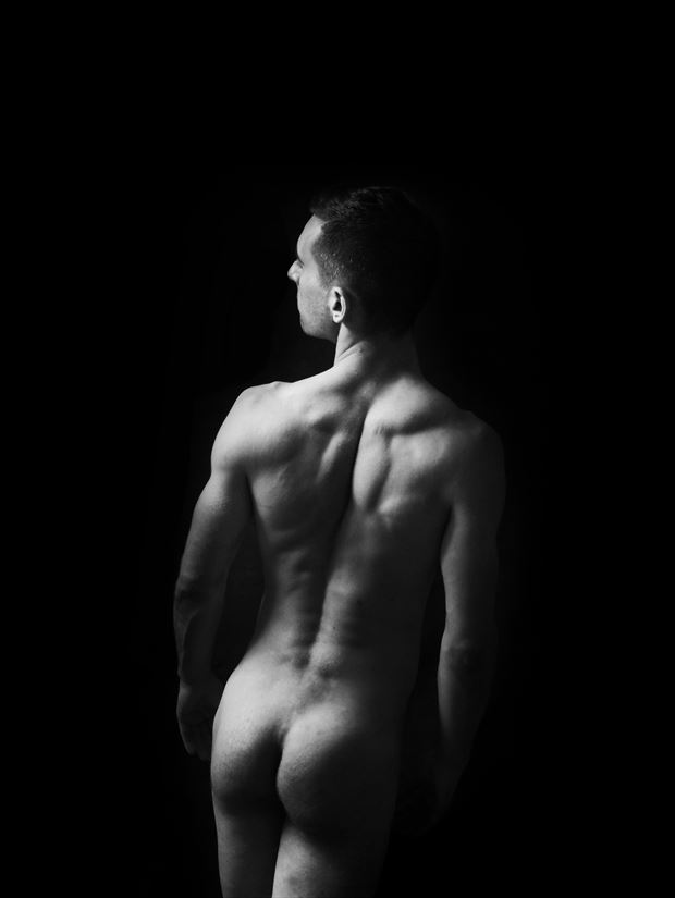into the darkness artistic nude photo print by model coma12