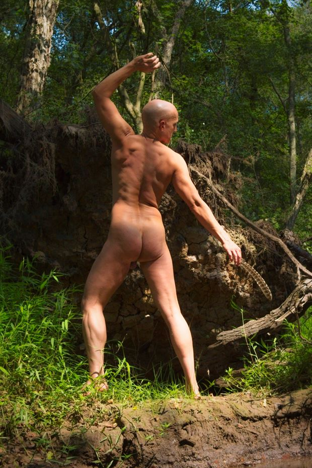 into the wood artistic nude photo print by model avid light