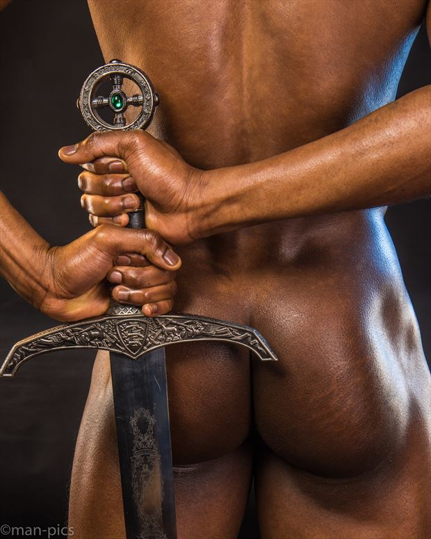 jay with sword i artistic nude photo print by photographer jbdi