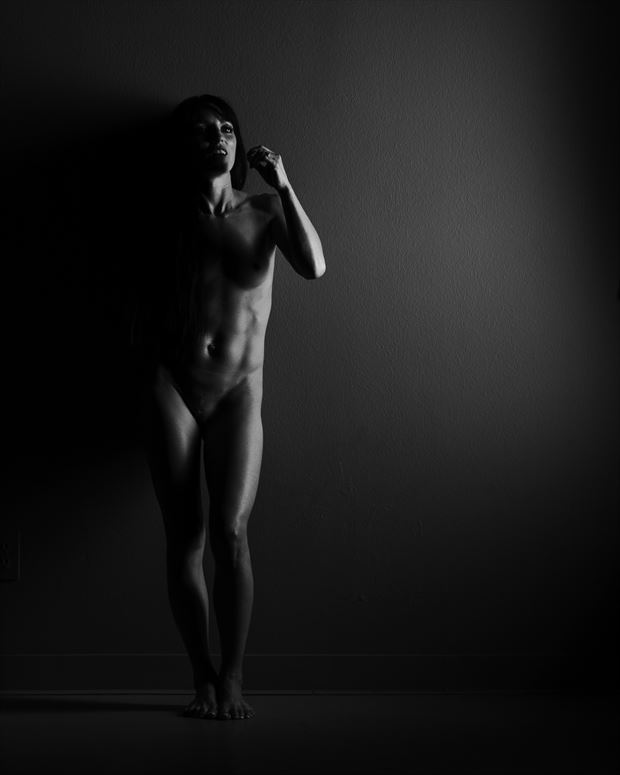 jessa peters in the shadows artistic nude photo print by photographer doc list