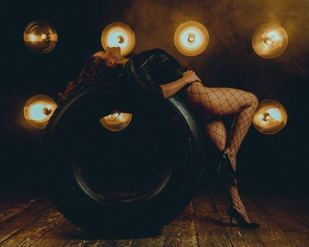 july romanova tyre lingerie photo print by photographer jhp