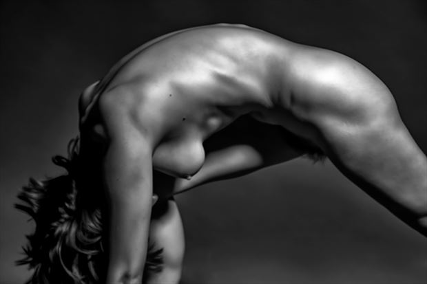 jump start artistic nude photo print by photographer philip turner
