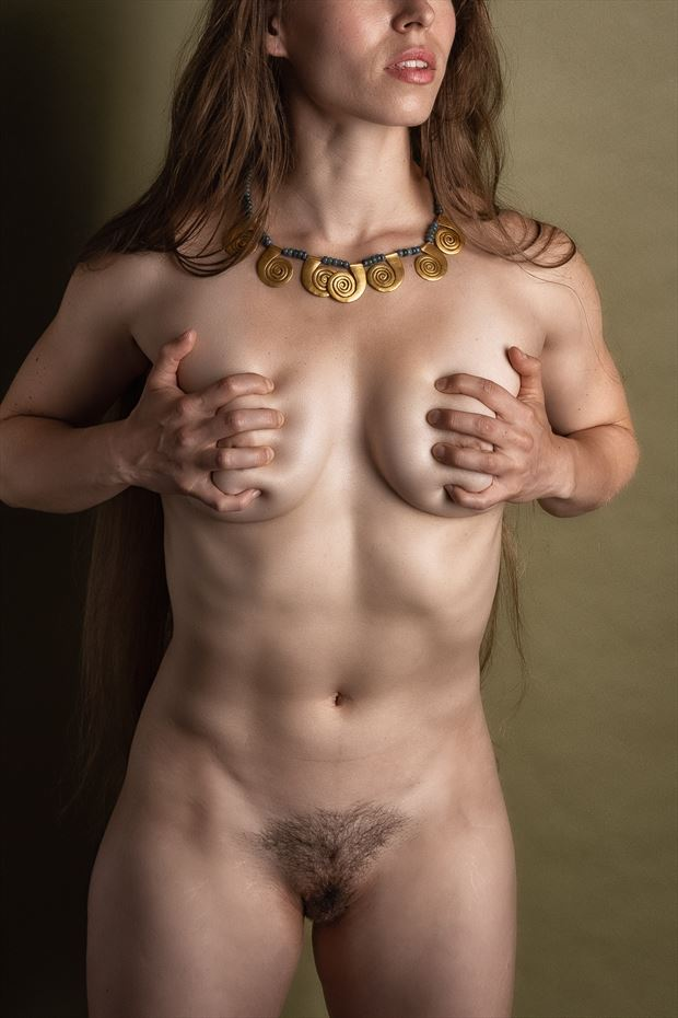 just a bit of bling artistic nude photo print by photographer rick jolson