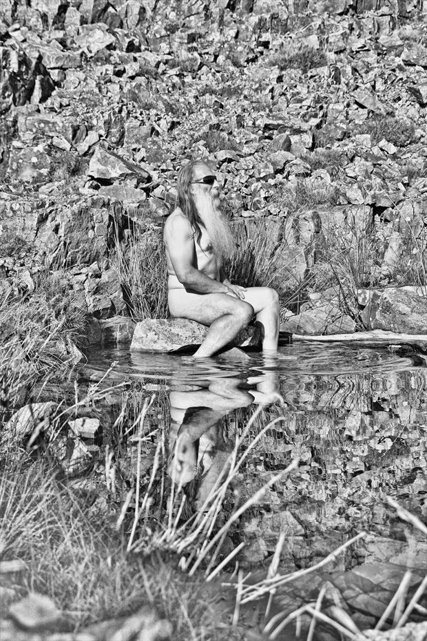 just my reflection and i nature photo print by model masterarti