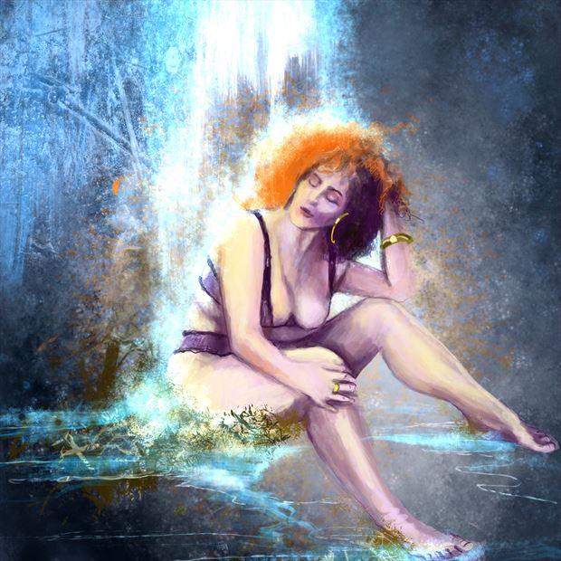 katrina nior 2 fantasy artwork print by artist nick kozis