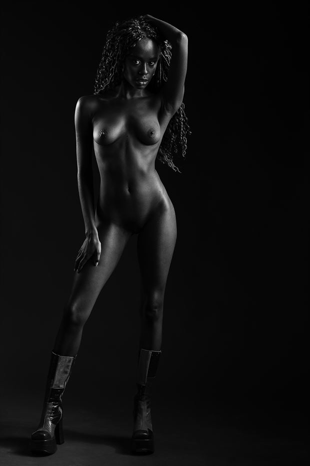 kayla artistic nude photo print by photographer depa kote