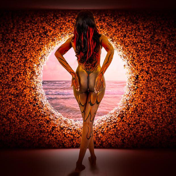 keka artistic nude photo print by photographer henney