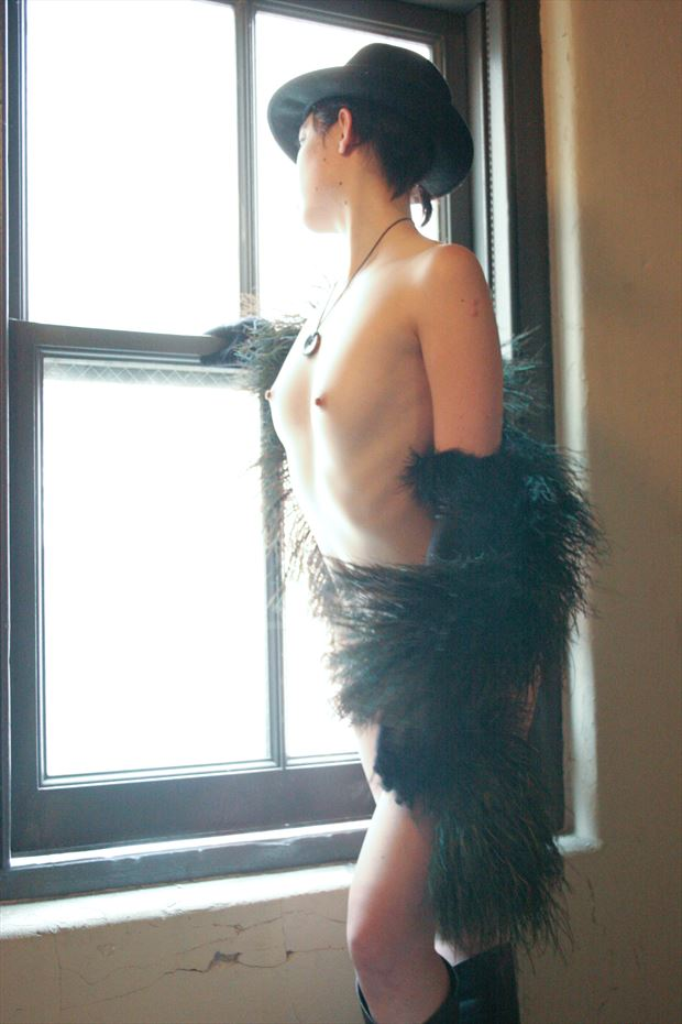 kyoko at window artistic nude photo print by photographer georgevp