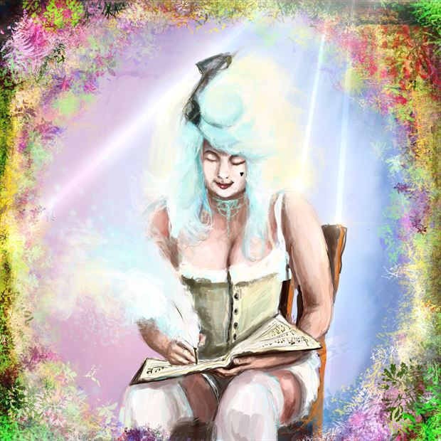 lady mozart 2 lingerie artwork print by artist nick kozis