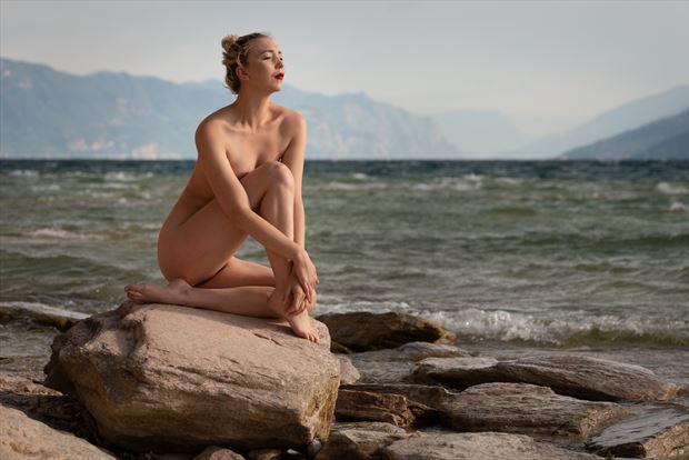 lake garda nude artistic nude photo print by photographer colin dixon