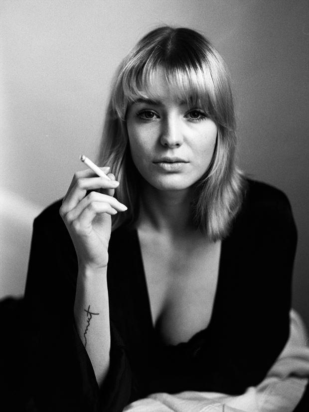lani smokes erotic photo print by photographer marcvonmartial