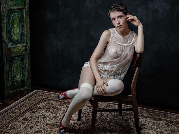 lingerie vintage style photo print by photographer nine80photos