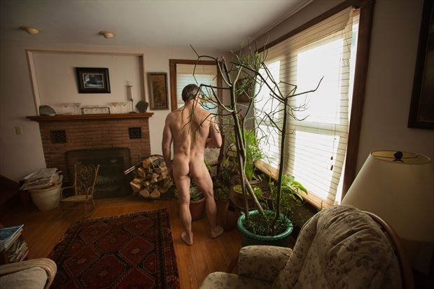 living room flora artistic nude photo print by photographer michael grace martin