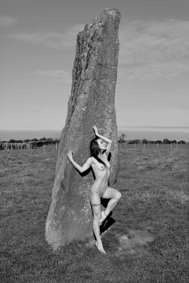 long meg artistic nude artwork print by model blackswann_portfolio