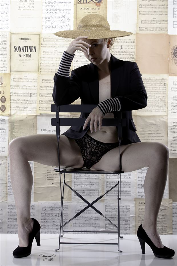 look at me lingerie photo print by photographer peter van zwol