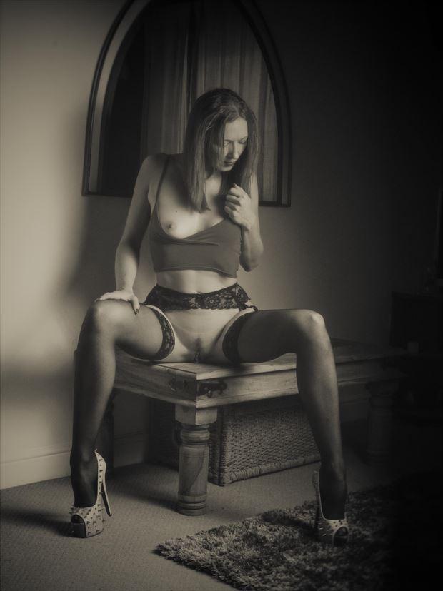 lou artistic nude photo print by photographer glossypinklipstick