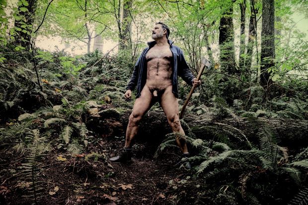 lumberjack 1 artistic nude photo print by photographer barry gallegos