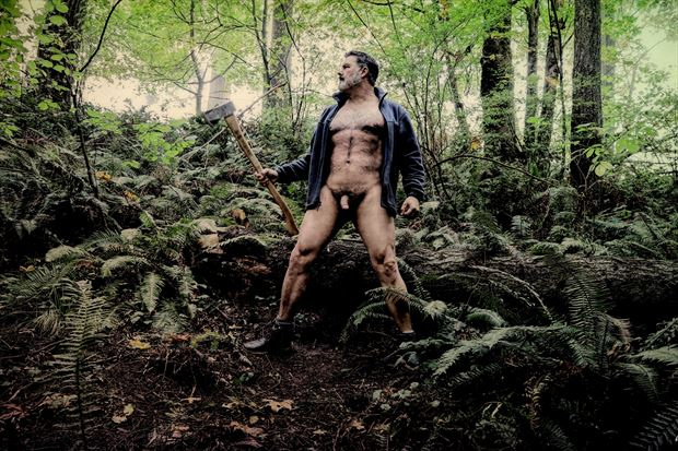 lumberjack 2 artistic nude photo print by photographer barry gallegos