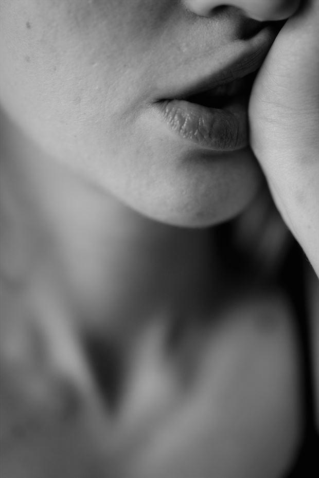 luscious lips sensual photo print by photographer brendan louw