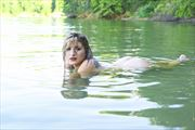 lying in the lake artistic nude photo print by photographer csdewitt buck