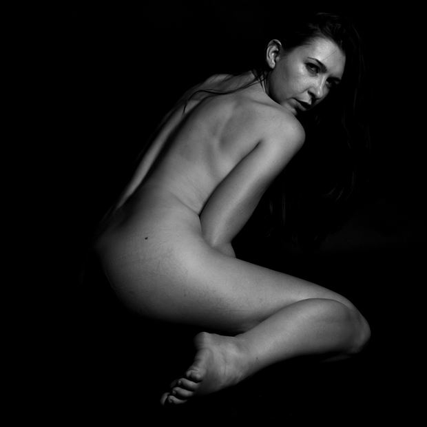 m in the darkest light artistic nude photo print by photographer thomas branch