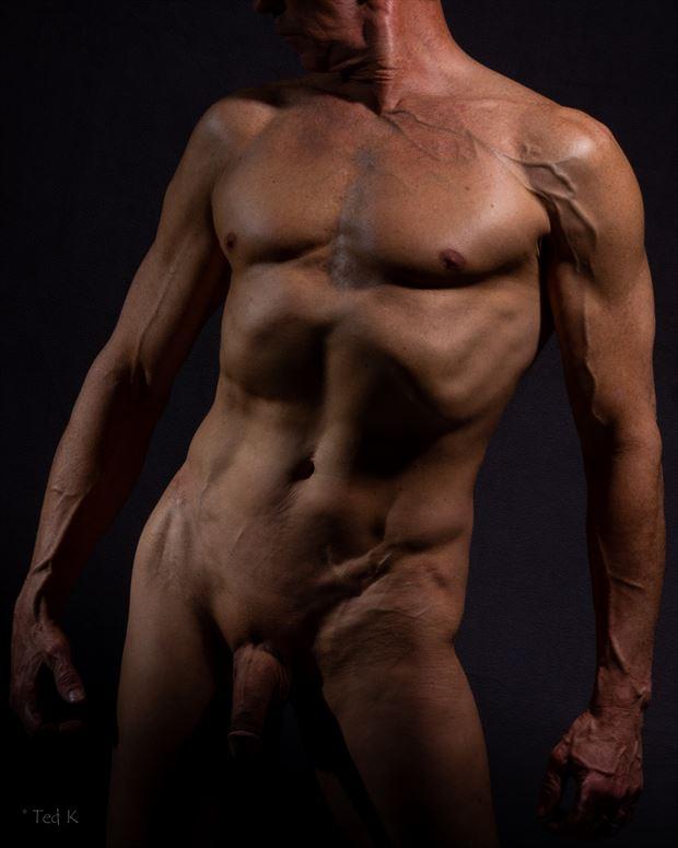 male form artistic nude photo print by model artfitnessmodel