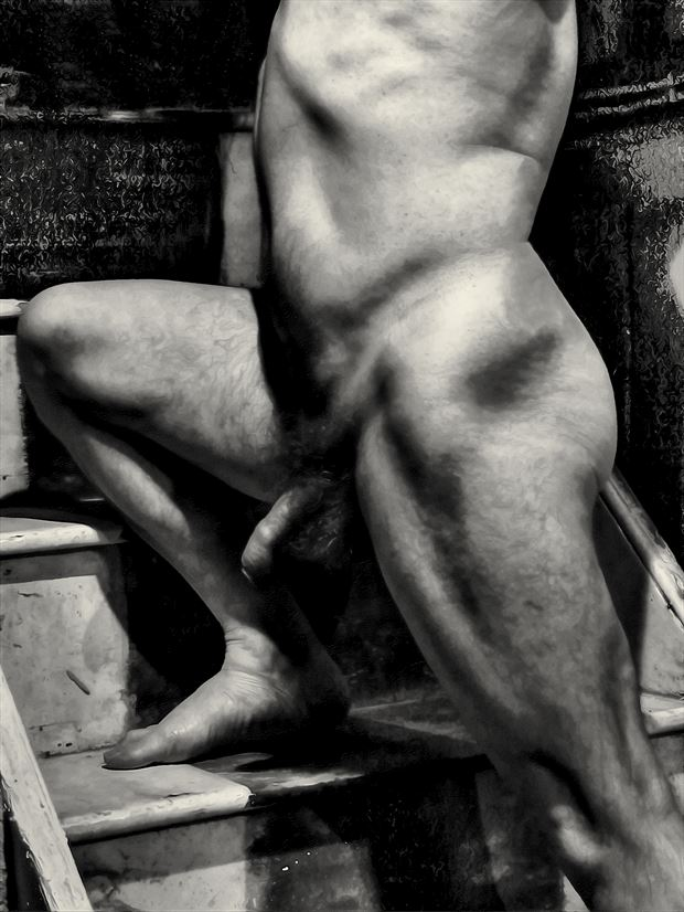 masculinity is on the rise artistic nude artwork print by model masterarti
