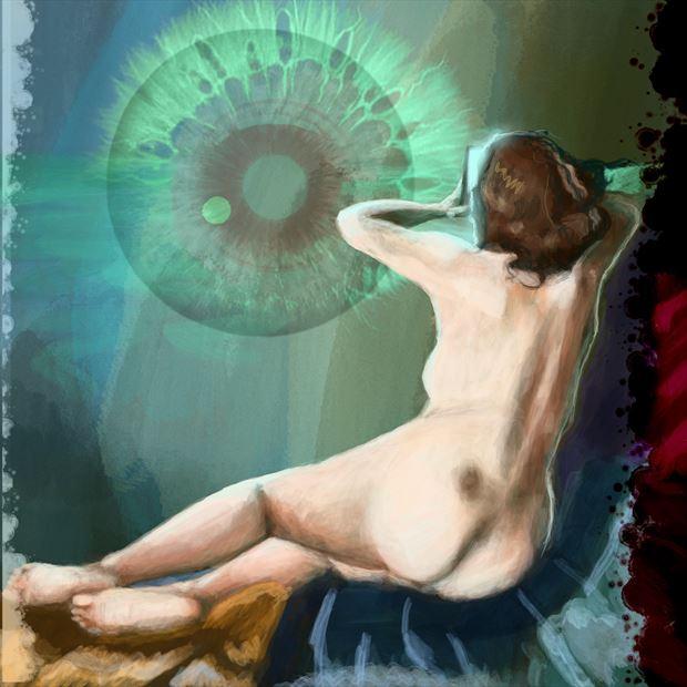 maude in paris 2 chiaroscuro artwork print by artist nick kozis