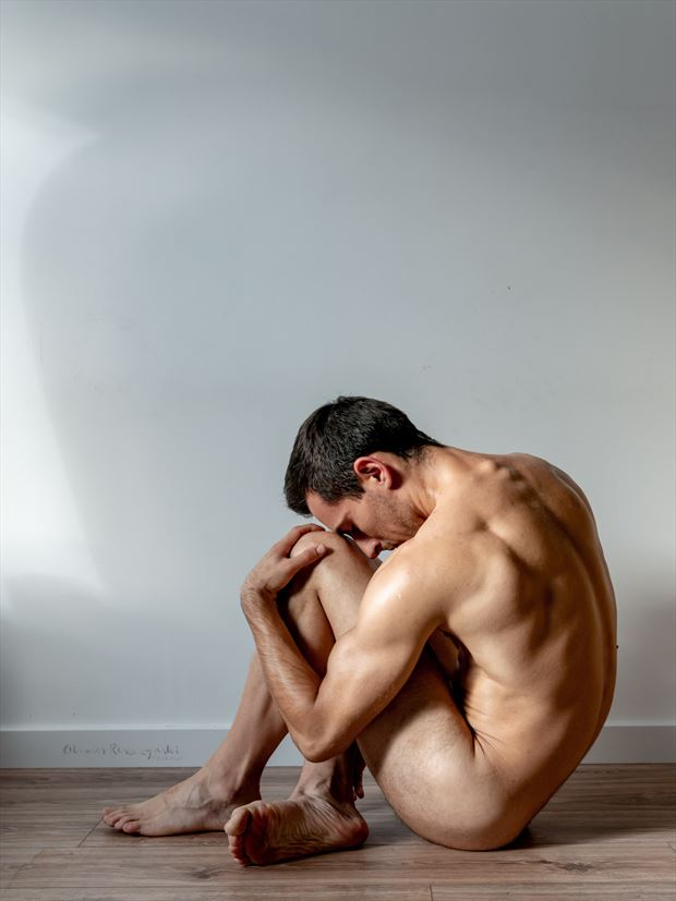 men sculpture artistic nude photo print by photographer oliwier r