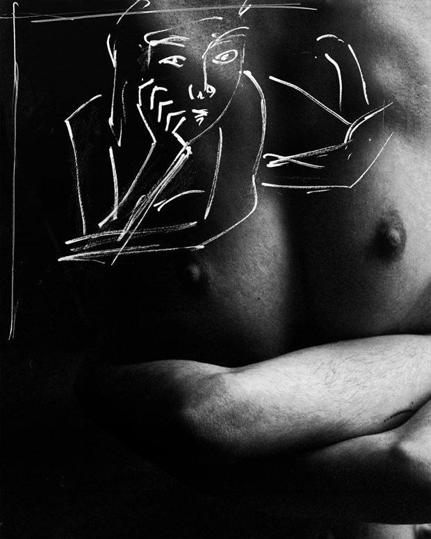 mixed media 2 artistic nude photo print by photographer jan karel kok