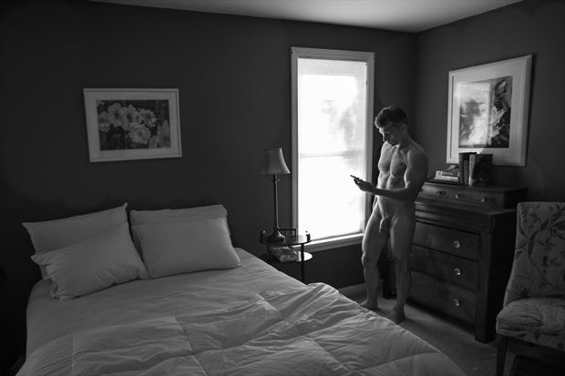 modern bedroom artistic nude photo print by photographer michael grace martin